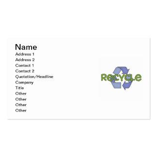 Recicle las camisetas y los regalos tarjetas de visita