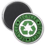 Recicle las letras verdes del logotipo BK Iman Para Frigorífico