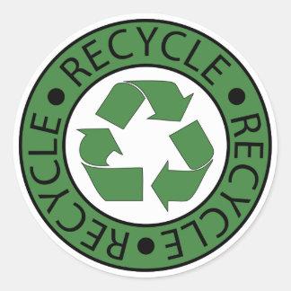 Recicle las letras verdes del logotipo BK Etiqueta Redonda