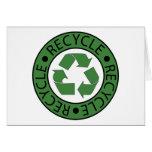 Recicle las letras verdes del logotipo BK Tarjeta