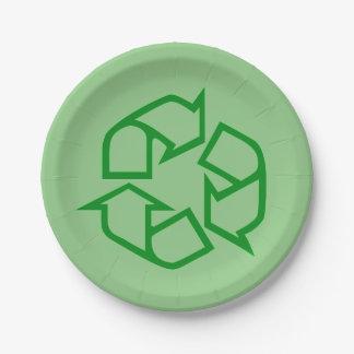 Recicle las placas de papel de la muestra platos de papel