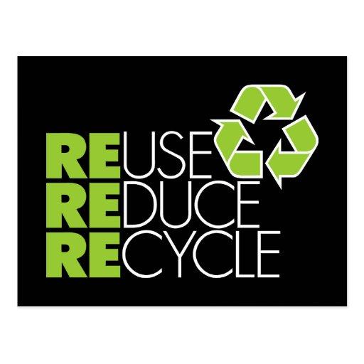 Recicle las postales