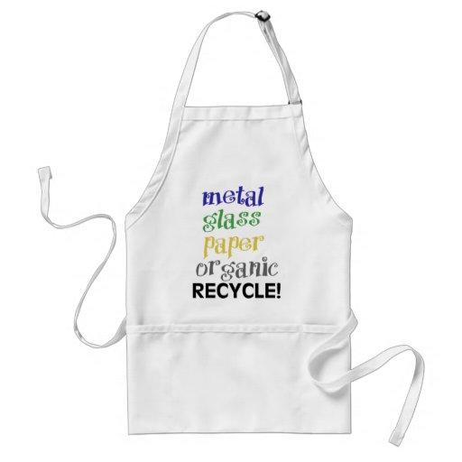 ¡Recicle! ¡Lista de materiales! Delantales