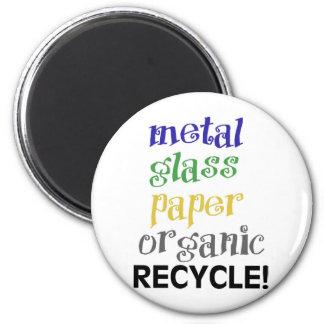 ¡Recicle! ¡Lista de materiales! Imán Redondo 5 Cm
