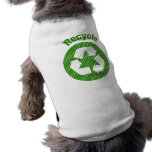 recicle los lunares verdes camiseta de perrito