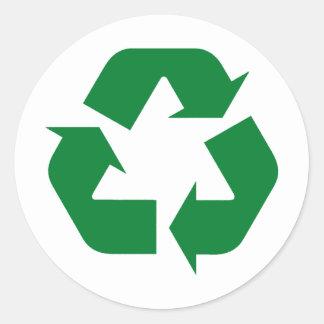 ¡Recicle los productos y los diseños de la ecologí Pegatinas Redondas