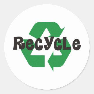 ¡Recicle los productos y los diseños del Pegatina Redonda