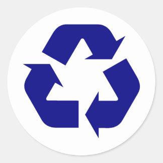 ¡Recicle los productos y los diseños! Pegatina Redonda