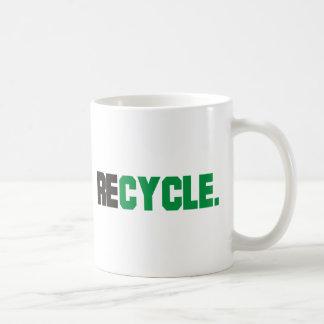 ¡Recicle los productos y los diseños! Taza