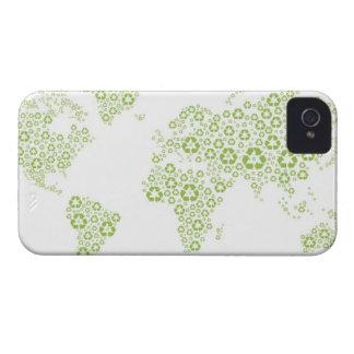 Recicle los símbolos usados para crear el planeta iPhone 4 Case-Mate coberturas
