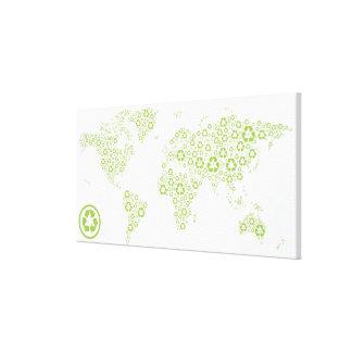 Recicle los símbolos usados para crear el planeta lona estirada galerías