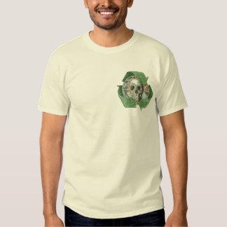Recicle o muera cráneo camisas