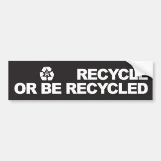 recicle o sea pegatina para el parachoques recicla pegatina para auto