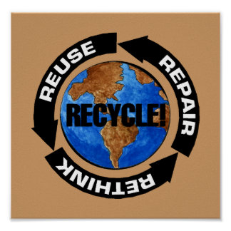 Recicle para el poster del Día de la Tierra