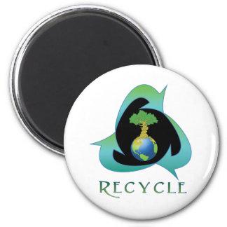 Recicle para la madre tierra iman de nevera