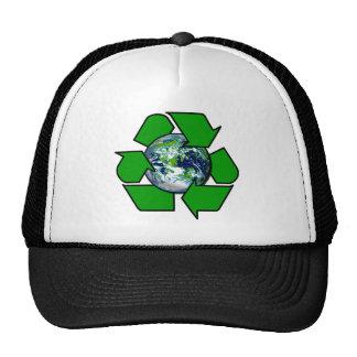 Recicle para la tierra del planeta gorros