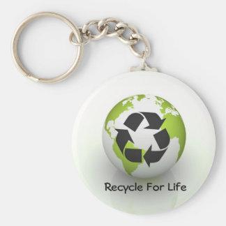 ¡Recicle para la vida! Llaveros