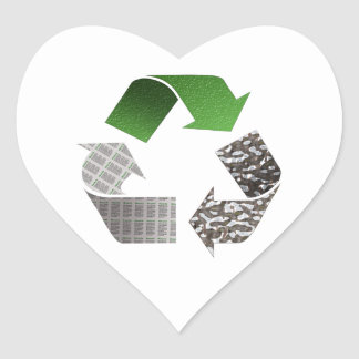 Recicle Calcomanía De Corazón