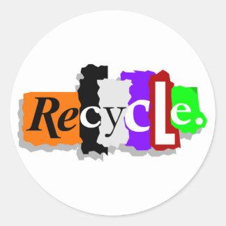 Recicle Pegatinas Redondas