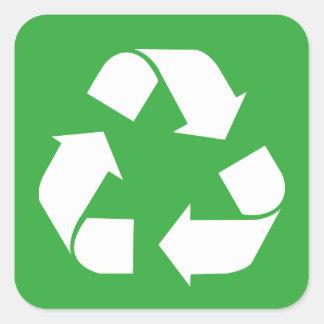 Recicle Pegatina Cuadrada