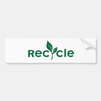 Recicle Pegatina De Parachoque