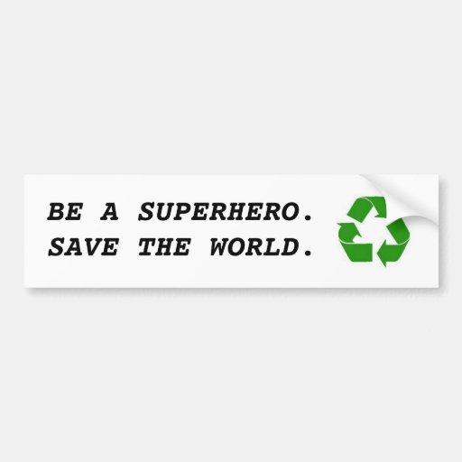 Recicle Pegatina Para Auto
