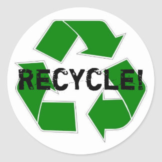 ¡Recicle! Pegatina Redonda