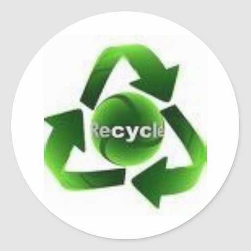 Recicle Pegatina Redonda