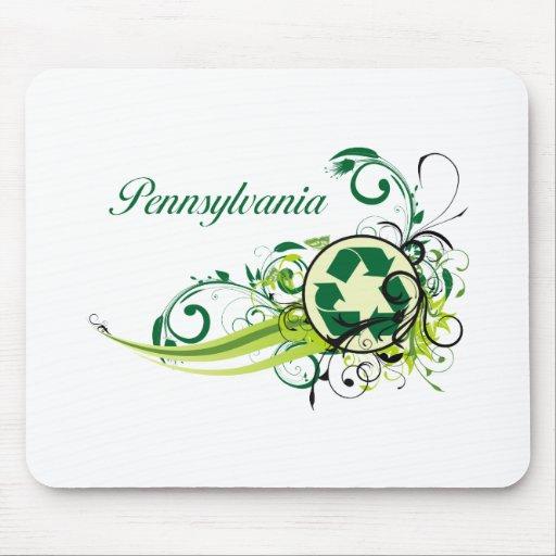 Recicle Pennsylvania Alfombrillas De Ratones