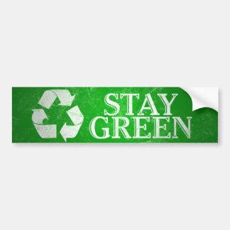 Recicle, permanezca a la pegatina para el parachoq pegatina para auto