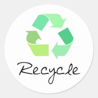 ¡Recicle ¡Ponga verde los diseños para la ecologí Pegatina