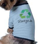 ¡Recicle! ¡Ponga verde los diseños para la ecologí Camisetas De Perrito