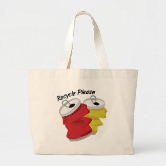 Recicle por favor bolsa