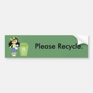 Recicle por favor pegatina para auto