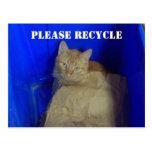 Recicle por favor la postal