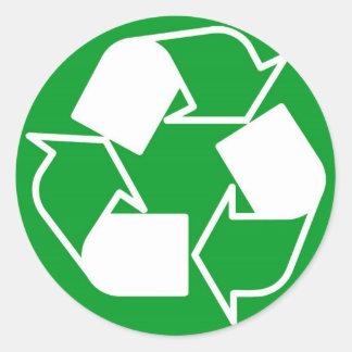 recicle por favor etiquetas redondas