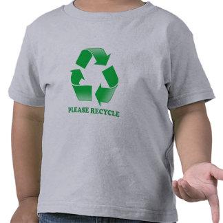Recicle por favor. Reciclaje de conciencia. Va el Camiseta