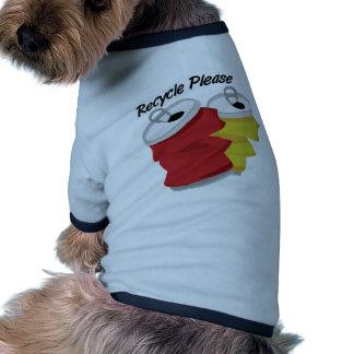 Recicle por favor ropa de perros