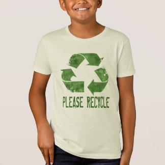 Recicle por favor: Una camiseta orgánica de los
