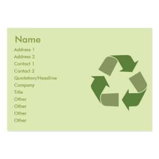 Recicle - rechoncho tarjetas de visita grandes