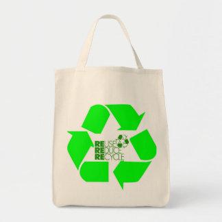 Recicle reducen el bolso de ultramarinos de la reu bolsas