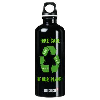 Recicle reducen el planeta de la reutilización