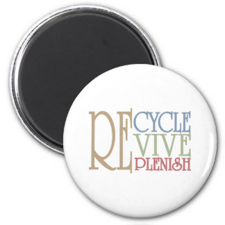 Recicle restablecen llenan imán redondo 5 cm