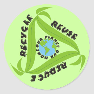 Recicle reutilice reduzca a los pegatinas