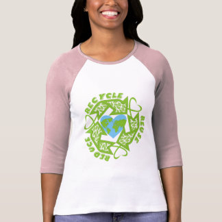 Recicle, reutilice, reduzca las camisetas
