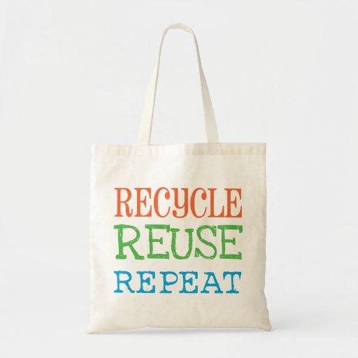 Recicle, reutilice, repita el bolso bolsa de mano