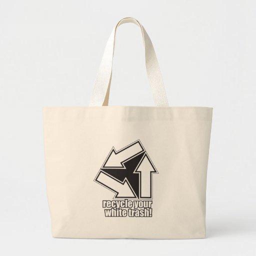 recicle su basura blanca en blanco bolsas