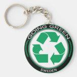 Recicle Suecia Llavero Personalizado