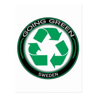 Recicle Suecia Tarjeta Postal