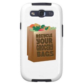 Recicle sus bolsos de ultramarinos samsung galaxy s3 carcasas